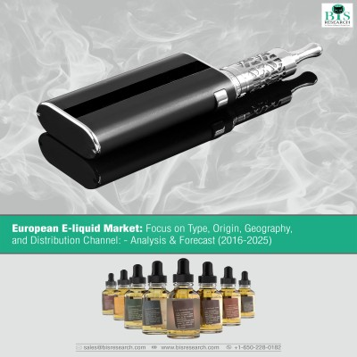European E-liquid Market: Focus on Type, Origin, Geography and Distribution Channel, Analysis & Forecast (2016-2025)