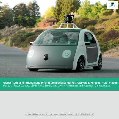 Global ADAS and Autonomous Driving Components Market, Analysis & Forecast – 2017-2026 (Focus on Radar, Camera, LiDAR, ADAS, Level 2 and Level 4 Automation, and Passenger Car Application)