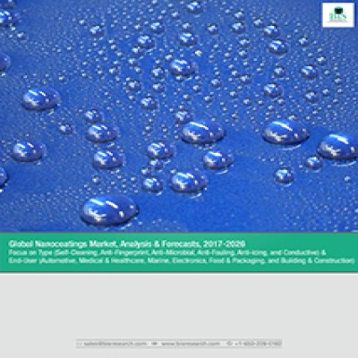 Global Nanocoatings Market, Analysis & Forecasts, 2017-2026: Focus on Type (Self-Cleaning, Anti-Fingerprint, Anti-Microbial, Anti-Fouling, Anti-Icing, and Conductive) & End-User (Automotive, Medical & Healthcare, Marine, Electronics, Food & Packaging, and Building & Construction)