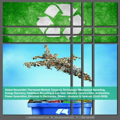 Global Recyclable Thermoset Market - Analysis & Forecast (2017-2026): Focus on Technology, Mechanical Recycling, Energy Recovery, Feedstock Recycling & End-User Industry, Construction, Automotive, Power Generation, Electrical & Electronics, Others