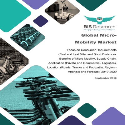 Global Micro-Mobility Market: Focus on Consumer Requirements (First and Last Mile, and Short Distance), Benefits of Micro Mobility, Supply Chain, Application (Private and Commercial- Logistics), Location (Roads, Tracks and Footpath), Region – Analysis and Forecast, 2019-2029