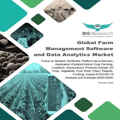 Global Farm Management Software and Data Analytics Market: Focus on Solution (Software, Platform-as-a-Service), Application (Outdoor/Indoor Crop Farming, Livestock, Aquaculture), Produce (Cereal, Oil Crop, Vegetable, Fruit, Root, Fiber), Patents, Funding, Impact of COVID-19 - Analysis and Forecast (2020-2025)