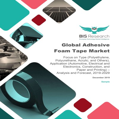 Global Adhesive Foam Tape Market – Analysis and Forecast, 2019-2029: Focus on Type (Polyethylene, Polyurethane, Acrylic, and Others), Application (Automotive, Electrical and Electronics, Construction, and Paper and Printing)