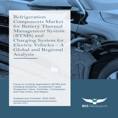 Refrigeration Components Market for Battery Thermal Management System (BTMS) and Charging System for Electric Vehicles – A Global and Regional Analysis: Focus on Applications (Battery Thermal Management System and Charging System), Component Types (Expansion Valve, Controller, Compressor, Filter Drier, Evaporator, Condenser, and Others), Propulsion Type (BEVs, HEVs, and PHEVs), and Region - Analysis and Forecast, 2020-2025