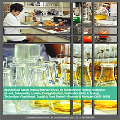 Global Food Safety Testing Market: Focus on Contaminant Testing (Pathogen (E. coli, Salmonella, Listeria, Campylobacter), Pesticides, GMO, & Toxins), Technology (Traditional, Rapid) & Food Tested - Analysis & Forecast (2017-2021)