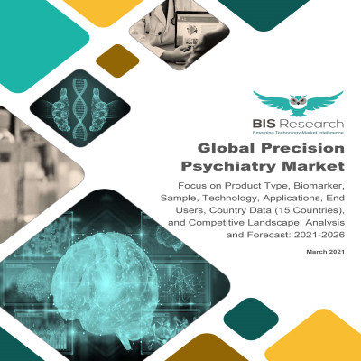 Global Precision Psychiatry Market: Focus on Product Type, Biomarker, Sample, Technology, Applications, End Users, Country Data (15 Countries), and Competitive Landscape - Analysis and Forecast, 2021-2026