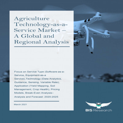 Agriculture Technology-as-a-Service Market – A Global and Regional Analysis: Focus on Service Type (Software-as-a-Service, Equipment-as-a Service),Technology (Data Analytics, Guidance, Sensing, Variable Rate), Application (Yield Mapping, Soil Management, Crop Health), Pricing Models, Break-Even Analysis – Analysis and Forecast, 2020-2025