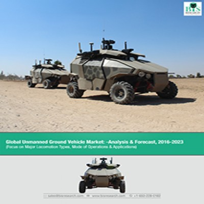 Global Unmanned Ground Vehicle Market - Analysis and Forecast (2016-2023): (Focus on Major Locomotion Types, Mode of Operations & Applications)