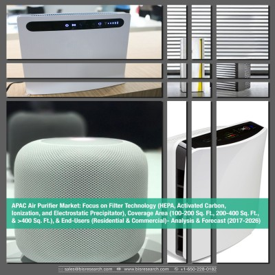 APAC Air Purifier Market: Focus on Filter Technology (HEPA, Activated Carbon, lonization, and Electrostatic Precipitator), Coverage Area (100-200 Sq.Ft., 200-400 Sq.Ft., & > 400 Sq. Ft.), & End-Users (Residential & Commercial)- Analysis & Forecast (2017-2026)