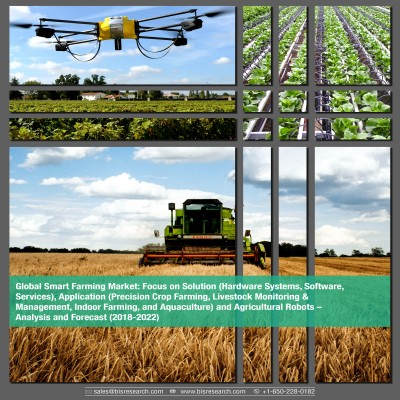 Global Smart Farming Market – Analysis and Forecast (2018-2022): Focus on Solution (Hardware Systems, Software, Services), Application (Precision Crop Farming, Livestock Monitoring & Management, Indoor Farming, and Aquaculture) and Agricultural Robots