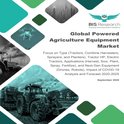 Global Powered Agriculture Equipment Market: Focus on Type (Tractors, Combine Harvesters, Sprayers, and Planters), Tractor HP, Electric Tractors, Applications (Harvest, Sow, Plant, Spray,Fertilize), and Next-GenEquipment (Drones, Robots), Impact of COVID-19 - Analysis and Forecast, 2020-2025