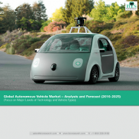 Global Autonomous Vehicles Market - Analysis & Forecast (2016-2025) (Focus on Major Levels of Technology and Vehicle Types)