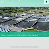 Global Water and Waste Water Treatment Market, Analysis & Forecast: 2016 to 2022 (Focus on Chemicals and Equipment used across Municipal and Industrial Applications)