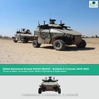 global unmanned ground vehicle market research Global unmanned ground vehicle market analysis and forecast report 2017:  focus on major locomotion types, mode of operations.